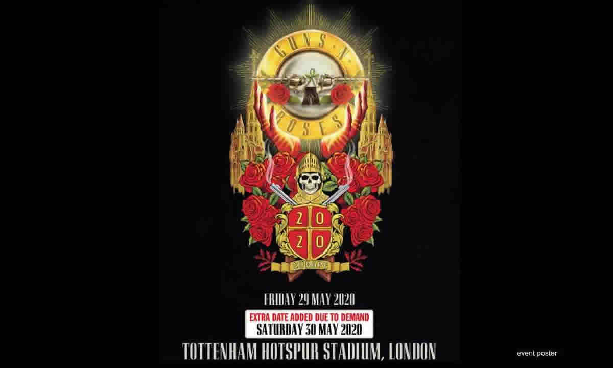 Guns N 'Roses in concerto a Londra