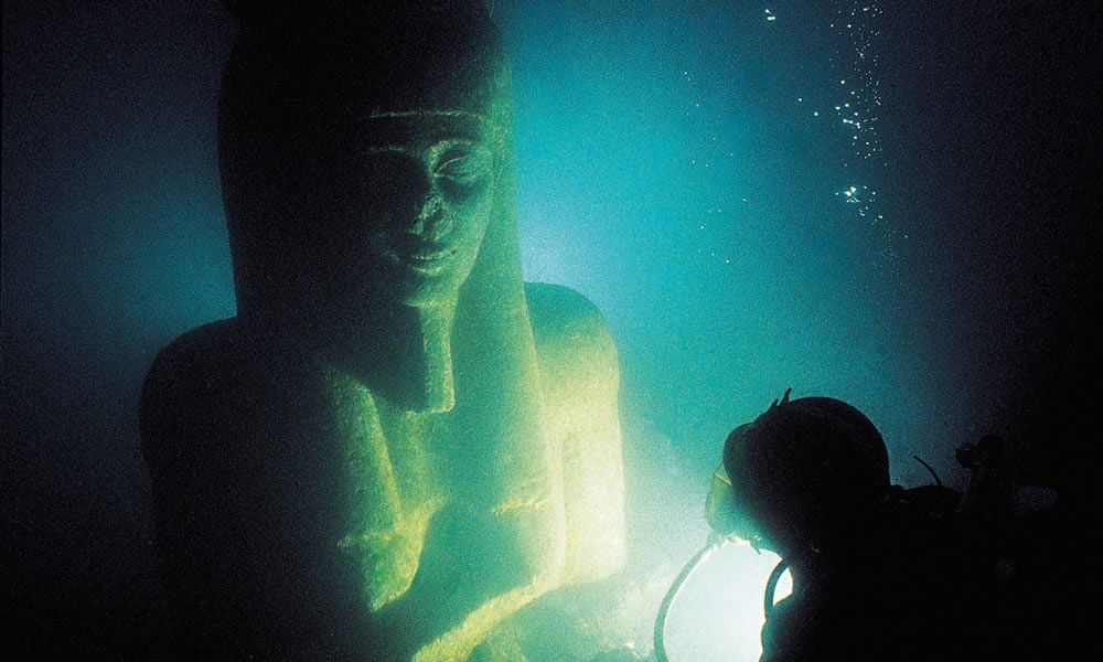 La mostra Sunken Cities Egypt's Lost Worlds a Londra