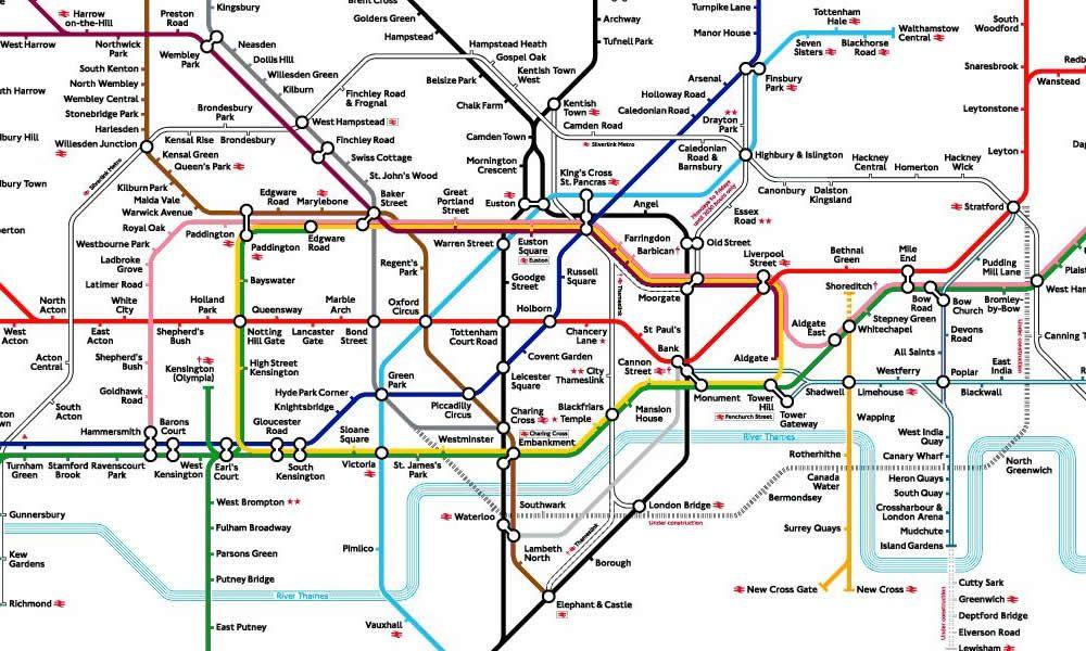 mappa metropolitana di londra e altre cartine interattive
