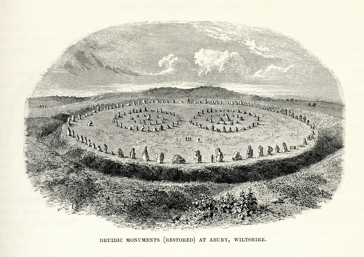 Il cerchio di pietre di Avebury