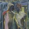 Michael Armitage Kampala Suburb Oil on Lubugo bark cloth 196 x 150 cm Private Collection, London Dana
