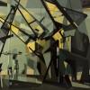 Tullio Crali Port Structures (Nantes), 1954 (Structures portuaires (Nantes)) Oil on canvas 72 x 92 cm