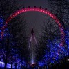 Il London Eye nel periodo di Natale