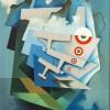 Tullio Crali Tricolour Wings, 1932 (Ali tricolori) Oil on plywood 72 x 56 cm