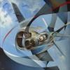 Tullio Crali Jonathan Monoplane, 1988 (Monoplano Jonathan) Oil on canvas 100 x 100 cm