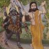 Ramprasad Sen and the goddess Kali, signed P. Chakraborty, Bengal, India, 20th century. © The Trustees of the British Museum