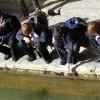 Bambini in visita alle Terme Romane
