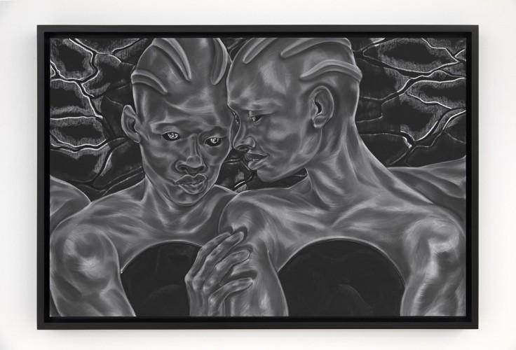 Toyin Ojih Odutola To See and To Know; Future Lovers from A Countervailing Theory (2019) © Toyin Ojih Odutola. Courtesy of the artist and Jack Shainman Gallery, New York