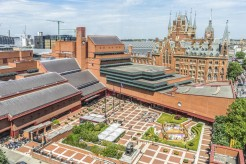 Aerial shot of the British Library at St Pancras. Photo credit Tony Antoniou