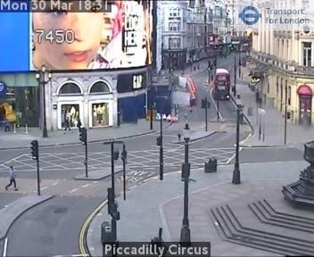 Webcam: vista su Piccadilly Circus