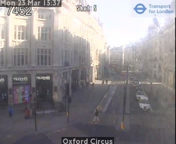 Webcam: vista su Oxford Street