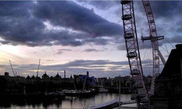 Webcam: vista su London Eye/Tamigi